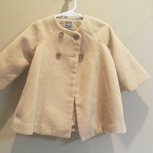 Baby GAP tan pea coat sz 12-18m